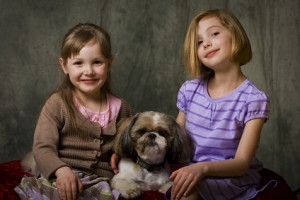 Kinder mögen Shih Tzu Hunde.