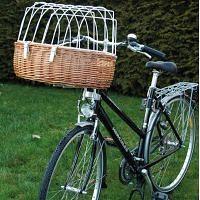 Maxi Hunde Fahrradkorb mit Schutzgitter